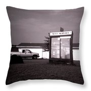 Self Service- Winnsboro Road- La Hwy 15 Throw Pillow