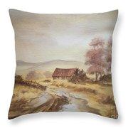 Selo Poslije Kise Throw Pillow