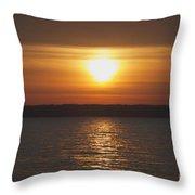 Seneca Lake Sunrise Throw Pillow