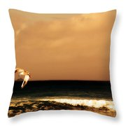 Sennen Seagull Throw Pillow