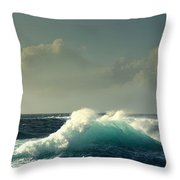 Sennen Surf Seascape Throw Pillow