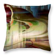 Sensing The Spheres Throw Pillow by Linda Sannuti