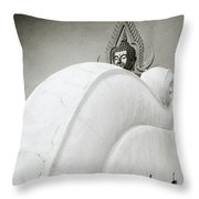 Sensual Buddhism Throw Pillow