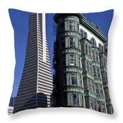 Sentinel Building San Francisco Throw Pillow