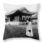 Seoul Korea - Imperial Palace - C 1904 Throw Pillow