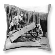 Seoul Korea - Men Sawing Lumber Throw Pillow