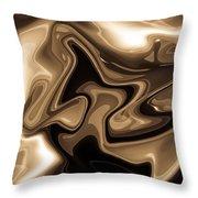 Sepia Art Throw Pillow