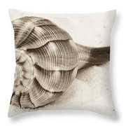 Sepia Shell Throw Pillow