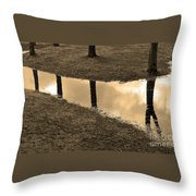 Sepia Silhouetted Reflections  Throw Pillow