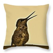 Sepia Stay Away Throw Pillow