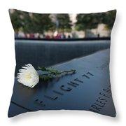 September 11 Memorial Flower Throw Pillow