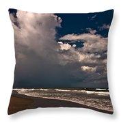 September Beach Throw Pillow