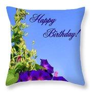 September Birthday Throw Pillow