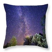 September Night Sky Throw Pillow