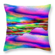 September Sunrise Abstract Throw Pillow