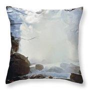 Sequoia Nat Pk Waterfalls Throw Pillow