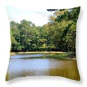 Serene Lake In September Throw Pillow
