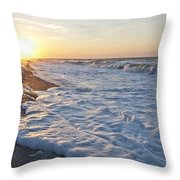 Serene Sunrise Throw Pillow