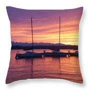 Serene Sunset Throw Pillow