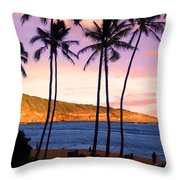 Serene Waimea Bay Throw Pillow