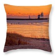 Serenity Beach Throw Pillow