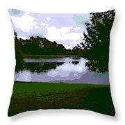 Serenity Lake 4 Throw Pillow