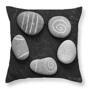 Serenity Stones Throw Pillow