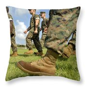 Sergeant, Foreground, Leads A Small Throw Pillow