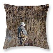 Serious Fisherman Throw Pillow