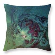 Serpent Head Throw Pillow by Linda Sannuti