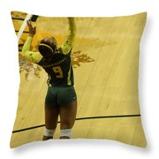 Serving The Match Throw Pillow
