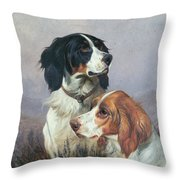 Setters On A Moor Throw Pillow by Colin Graeme