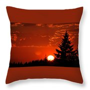 Setting Low Throw Pillow