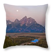 Setting Moon Throw Pillow
