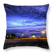 Setting On The Beach Throw Pillow