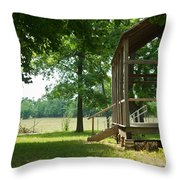 Settlers Cabin Arkansas 4 Throw Pillow