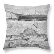 Sevastopol: Diver, 1858 Throw Pillow