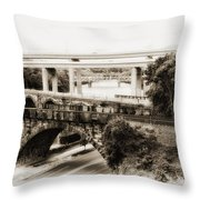Seven Bridges View Throw Pillow