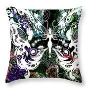 Seven Butterflies Throw Pillow