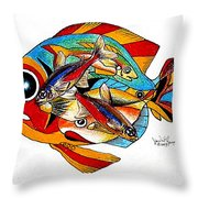 Seven Fish Throw Pillow