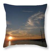 Seven Mile Bridge Sunset Throw Pillow