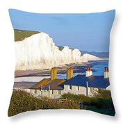 Seven Sisters Cottage View Throw Pillow