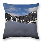 Seward Mountain Range Throw Pillow