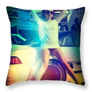 Sexy Chick Throw Pillow