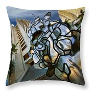 Sf Hyatt Outside Throw Pillow