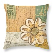 Shabby Chic Floral 2 Throw Pillow