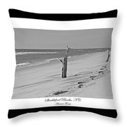 Shackleford Banks Ancient Forest  Throw Pillow