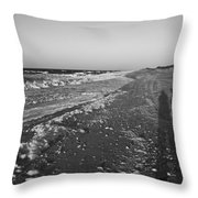 Shackleford Beach Morning Throw Pillow