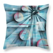 Shades Of Fibonacci Throw Pillow