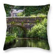 Shades Of Green. Throw Pillow